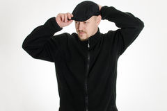 L'uomo ha messo sopra il cappello Fotografia Stock Libera da Diritti