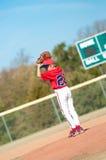 Giovane lanciatore di baseball Immagini Stock