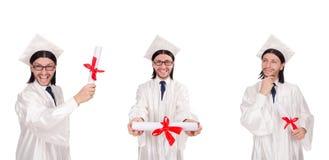 Il giovane pronto per la graduazione dell'università Immagini Stock