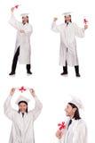 Il giovane pronto per la graduazione dell'università Immagine Stock