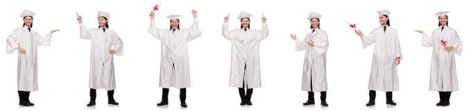 Il giovane pronto per la graduazione dell'università Immagine Stock Libera da Diritti