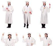Il giovane pronto per la graduazione dell'università Fotografie Stock