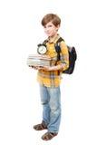 Il giovane ragazzo con i libri Fotografia Stock Libera da Diritti
