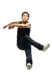 Il giovane salta Immagine Stock