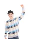 Il giovane tirante felice (isolato) Immagini Stock Libere da Diritti