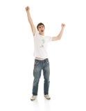 Il giovane tirante impressionabile isolato su un bianco Fotografie Stock
