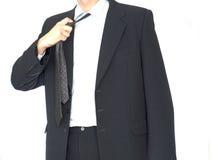 Il giovane uomo d'affari ha una rottura Immagine Stock Libera da Diritti