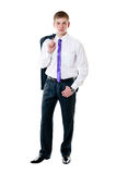 Il giovane uomo d'affari in un vestito Fotografia Stock Libera da Diritti