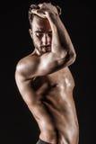 Il giovane uomo sveglio nudo sexy muscolare Fotografia Stock Libera da Diritti