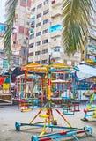 Il giro d'annata dell'oscillazione della sedia, Alessandria d'Egitto, Egitto Immagine Stock Libera da Diritti