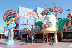 Il giro di Simpsons agli studi universali Hollywood Fotografie Stock Libere da Diritti