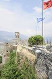 Il gjirokastra Albania Europa della fortezza Fotografia Stock