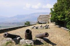 Il gjirokastra Albania Europa della fortezza Fotografie Stock