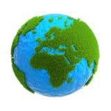 Il globo con i continenti situati su esso dalla t Immagini Stock