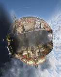 Il globo di Praga Fotografia Stock