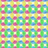 Il globo multicolore modella il modello senza cuciture Fotografia Stock