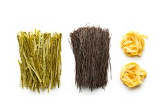 Il glutine libera, alta pasta della fibra Fotografia Stock Libera da Diritti