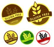 Il glutine libera i simboli Immagini Stock