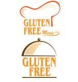 Il glutine libera l'insieme di simboli Fotografie Stock Libere da Diritti