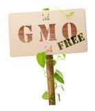 Il GMO libera il segno Fotografia Stock