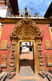 Il Golden Gate nel quadrato di Durbar Bhaktapur, Kathmandu Nepal fotografie stock