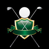 Il golf gradice l'uomo Immagini Stock Libere da Diritti