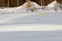 Il golf ha luogo dalla stagione immagini stock