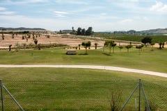 Il golf incontra l'agricoltura fotografia stock