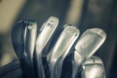 Il golf riveste di ferro il macro dettaglio Immagine Stock