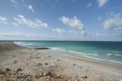 Il golfo di Aden dalla costa del nord, spiaggia Fotografie Stock