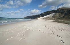 Il golfo di Aden dalla costa del nord, spiaggia Fotografia Stock Libera da Diritti