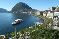 Il golfo di Lugano fotografia stock libera da diritti