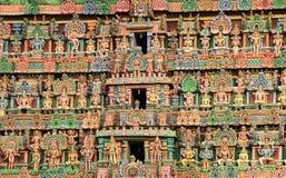 Il gopuram della divinità Fotografia Stock