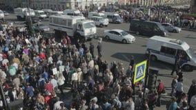 Il governo ha spinto indietro un timelapse di dimostrazione stock footage