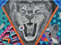 Il graffito di Detroit impressiona immagini stock libere da diritti
