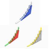 il grafico 3d ha impostato con la freccia Immagine Stock Libera da Diritti