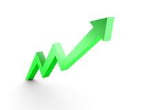 Il grafico commerciale, 3d ha reso la freccia concettuale Immagine Stock Libera da Diritti