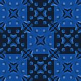 Il grafico del blu di indaco ha imbottito il modello senza cuciture quadrato illustrazione d'annata di vettore del tyle della tra illustrazione vettoriale