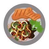 Il grafico delizioso della gastronomie e dell'alimento ha isolato la progettazione piana Fotografie Stock