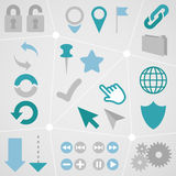 Il grafico di informazioni dell'icona di web ha messo 1 Fotografie Stock