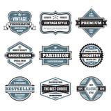 Il grafico di vettore badges la raccolta Distintivi d'annata originali Immagini Stock Libere da Diritti