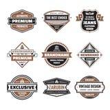 Il grafico di vettore badges la raccolta Distintivi d'annata originali Fotografia Stock Libera da Diritti