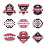 Il grafico di vettore badges la raccolta Distintivi d'annata originali Immagine Stock Libera da Diritti