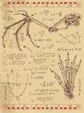 Il grafico ha messo con il meccanismo dello steampunk in ali di fantasia e mano del mostro royalty illustrazione gratis
