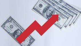 Il grafico monetario Fotografie Stock Libere da Diritti