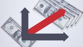 Il grafico monetario Fotografia Stock Libera da Diritti