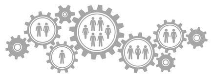 Il grafico orizzontale nove innesta la società del confine grigia illustrazione di stock