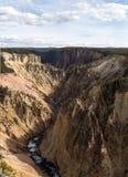 Il Grand Canyon del parco nazionale di yellowstone Immagini Stock Libere da Diritti