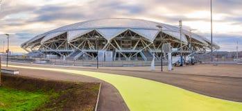 Il grande bello nuovo stadio di Samar Arena è pronto a ospitare le 2018 coppe del Mondo fotografia stock