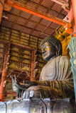 Il grande Buddha al tempio di Todai-ji a Nara, Giappone Fotografie Stock